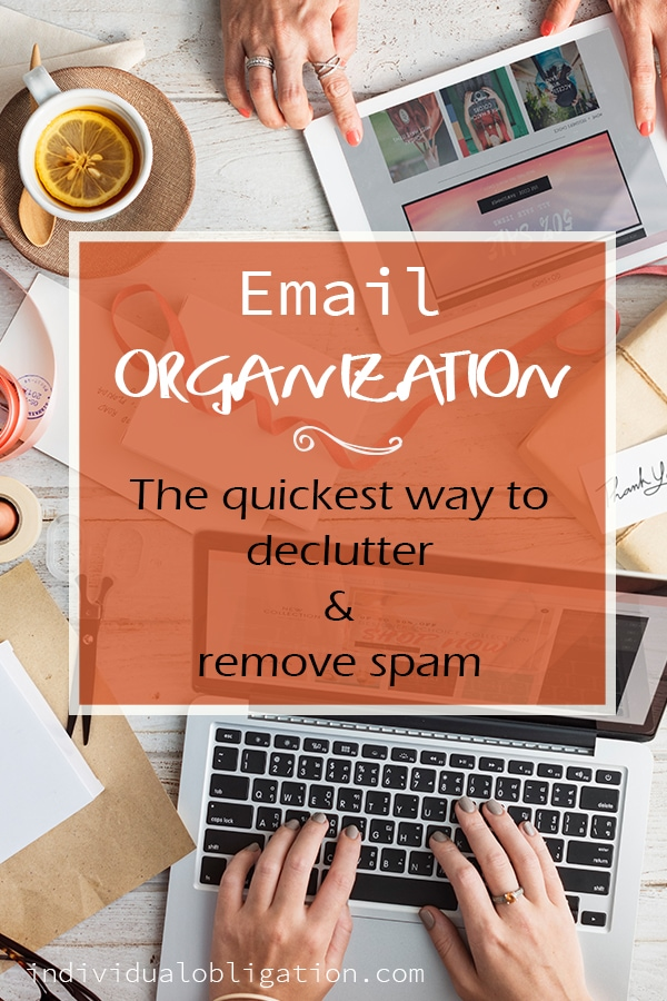 Featured image cover 1 - Email organization ~ the quickest way to declutter & remove spam