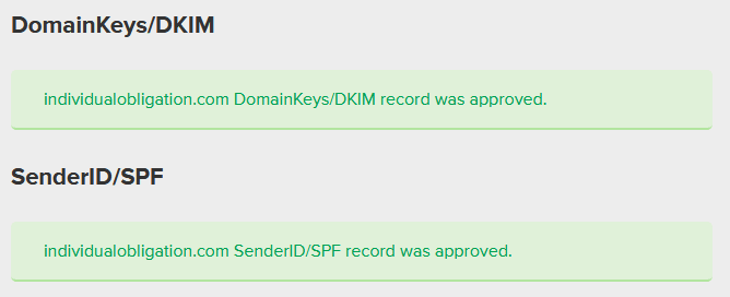Email Authentication in MailerLite DNS Records approved message