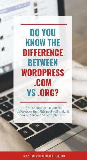 Do you know the difference between wordpress.com vs wordpress.org?