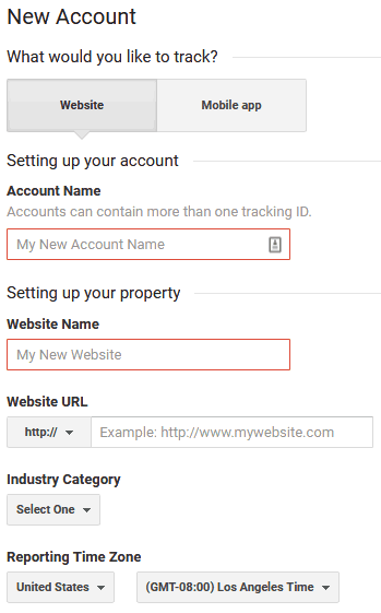 How To Setup Google Analytics On WordPress By Filling In Details For Analytics Account