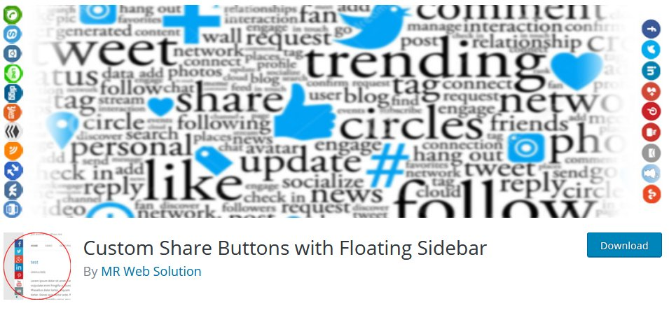 Social Media Plugin For WordPress Customize Share Buttons With Floating Sidebar Plugin