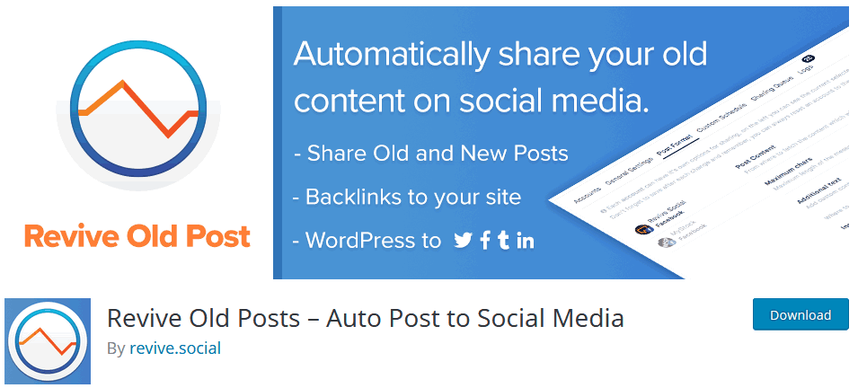Social Media Plugin For WordPress Revive Old Posts Auto Post To Social Media Plugin