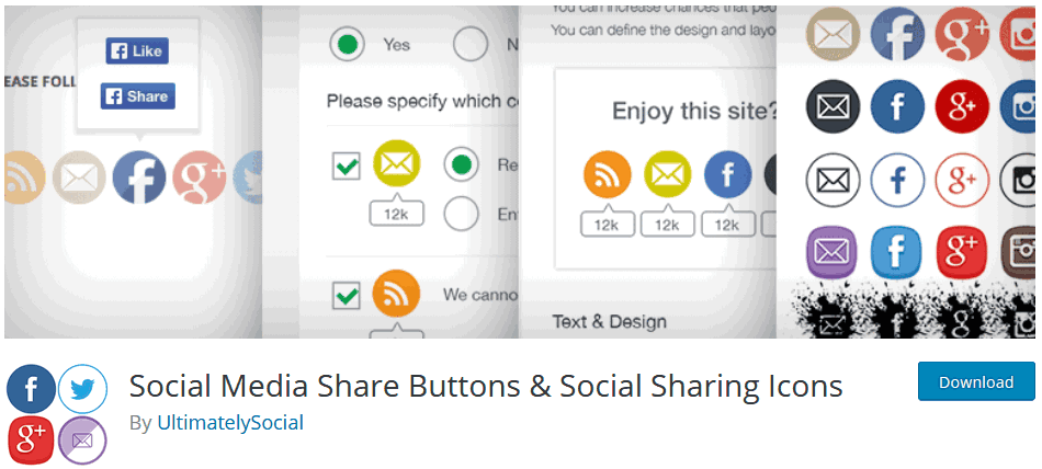 Social Media Plugin For WordPress Ultimate Social Media Share Buttons And Social Sharing Icons Plugin
