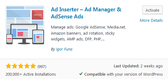 Ad Inserter Plugin To Download For Adding Affiliate Disclosures To Blog Posts