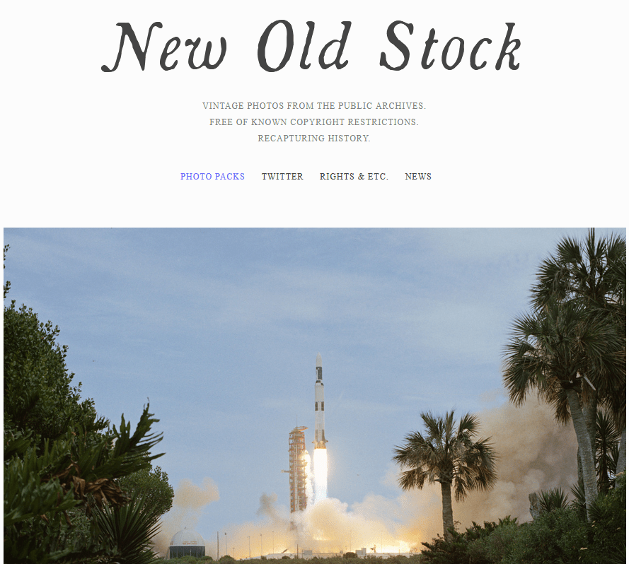 Free Stock Images For Bloggers Using The New Old Stock Website