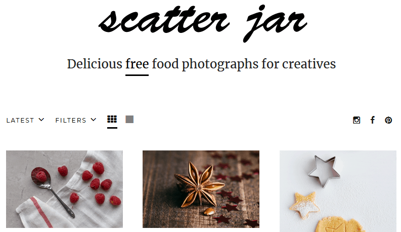 Free Stock Photography Images Using The Scatter Jar Website