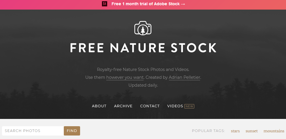 Free Stock Photos For Bloggers Using The Free Nature Stock Website