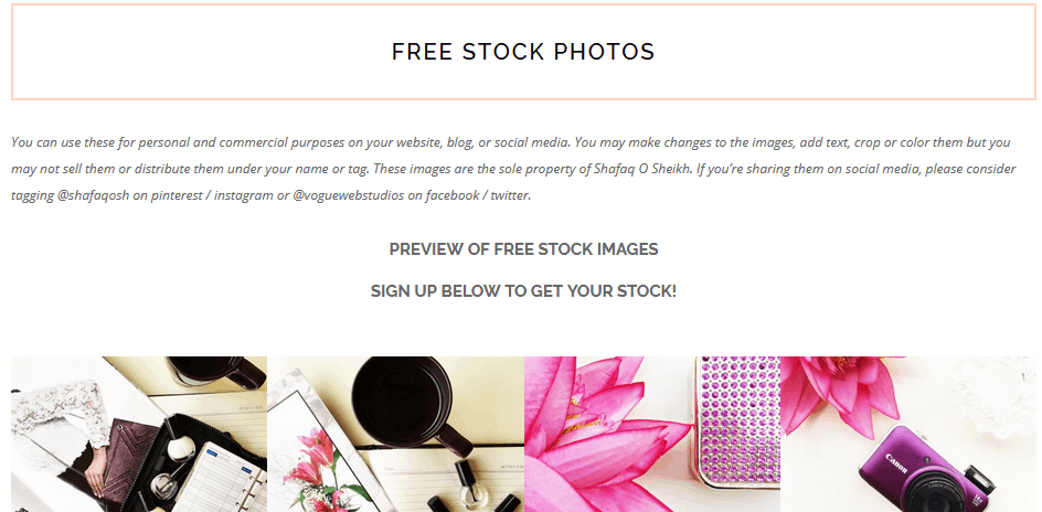 Free Stock Photos Using The Shafaq O Designs Website