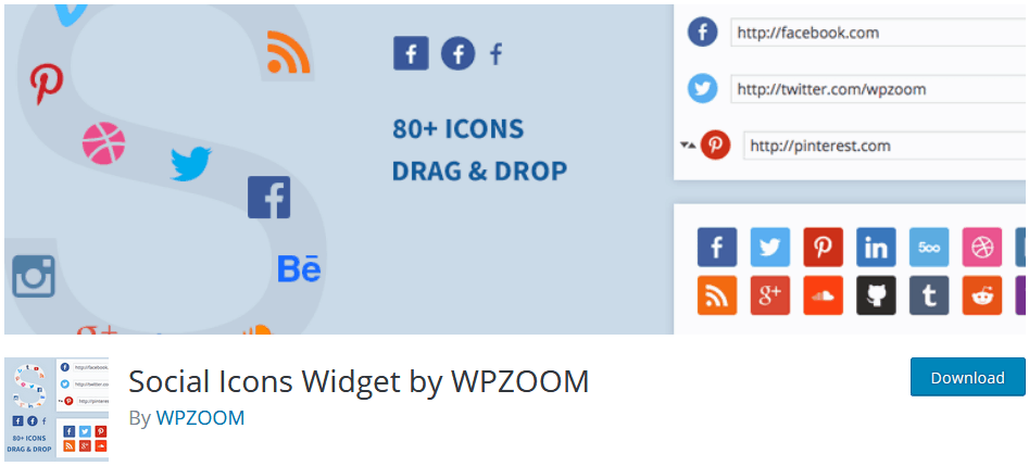 Adding Widgets To WordPress Using The Widget Plugin Social Icon Widgets By Wpzoom