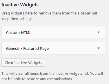 How To Use WordPress Widgets And Save Them In The Inactive Widgets Area To Keep Their Settings For Later