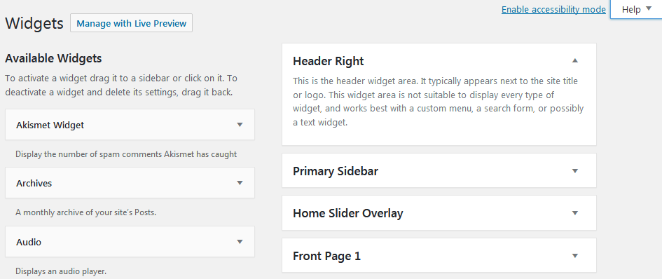 How To Use WordPress Widgets Using The Default Widgets Panel