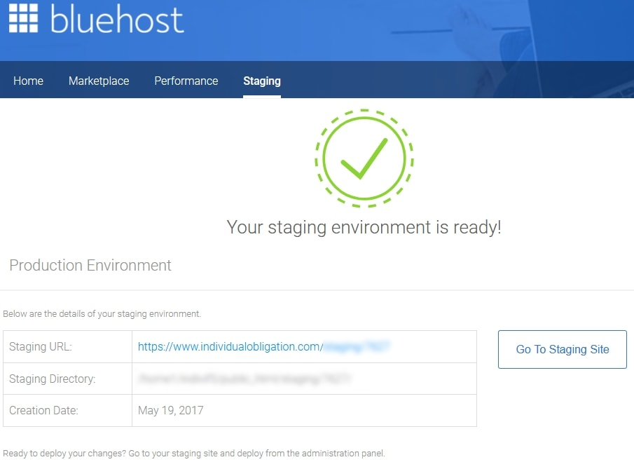 Wordpress Staging Site Using The Bluehost Staging Beta Tool And Plugin To Complete Environment Setup