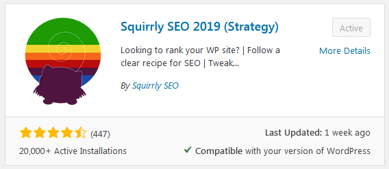 Squirrly Seo Install Plugin Setting